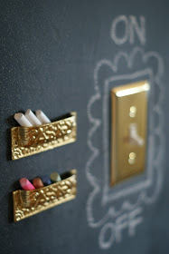 DIY Chalk Holder via Dimples and Tangles