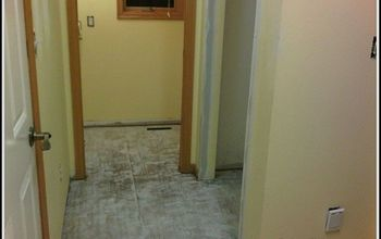 Demolition of Mudroom Floor and laying Backer Board