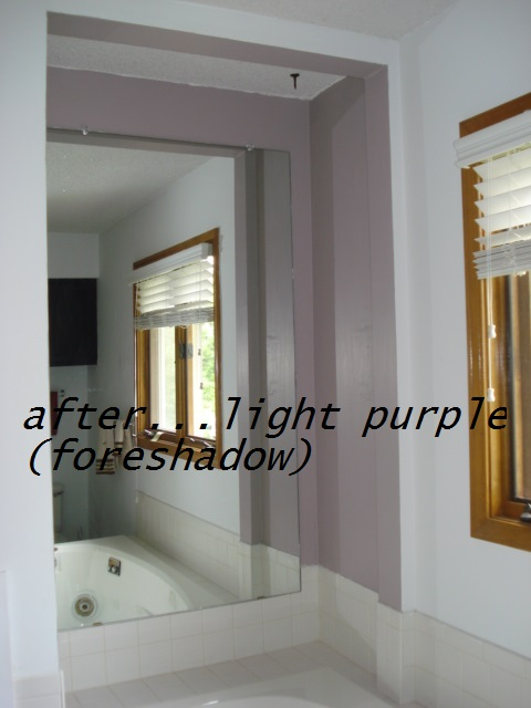 Sme purple (foreshadow color) on the stairs....(in another post)