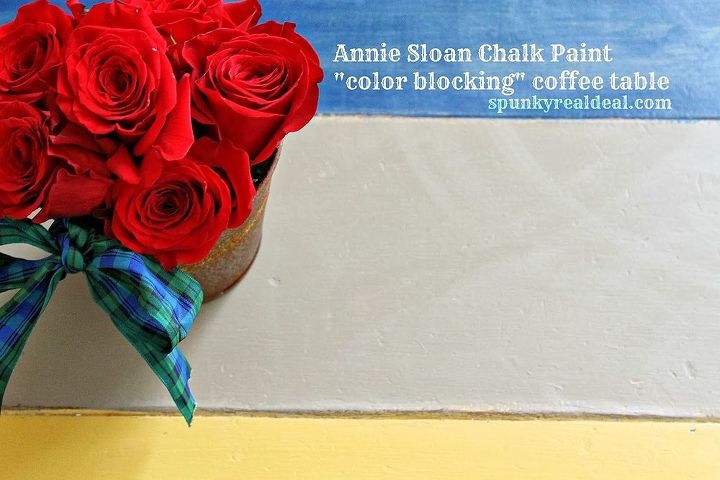 annie sloan color blocked coffee table, painted furniture