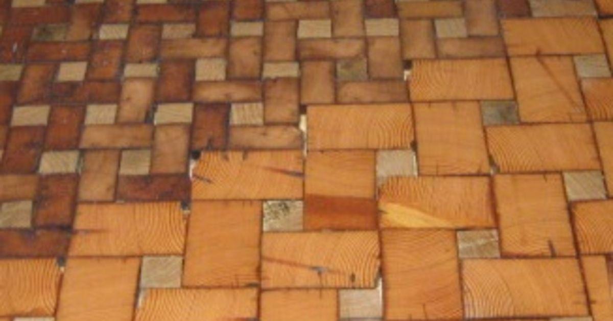 End Grain Cobble Block Wood Tile Flooring Hometalk