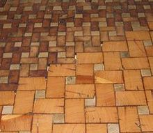 q end grain cobble block wood tile flooring, flooring, tile flooring, woodworking projects