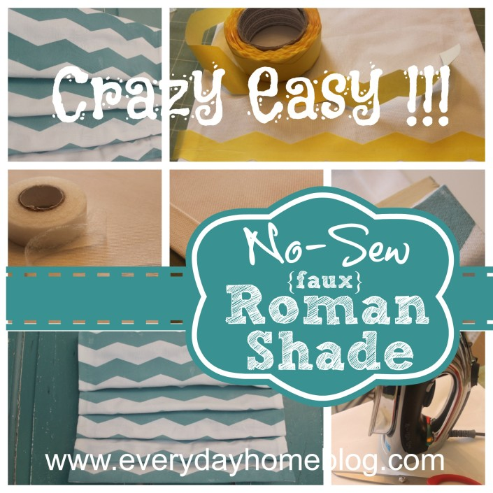 Diy no sew faux roman shade | the spiffy cookie.