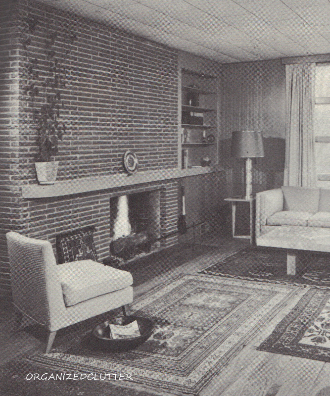 Mantel decorating was mostly sparse in the 1960's.