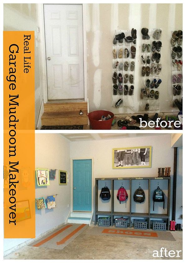 garage mudroom makeover, garages, laundry rooms