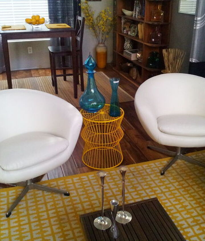 1960's Pod chairs fresh from the upholstery shop.