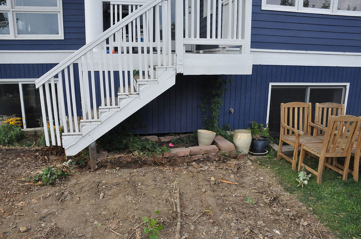 old deck removed...old stairs pictured above