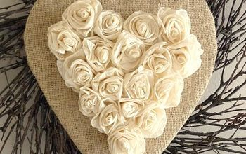 tutorial for rustic heart wreath, crafts, wreaths, Rustic Heart Wreath with Roses Burlap and Twig Wreath