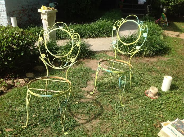 monday makeover, outdoor furniture, outdoor living, painted furniture