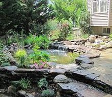 ponds waterfalls and patios, landscape, outdoor living, patio, ponds water features, Pond and Patio By Premier Ponds