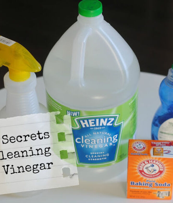 practically free homemade grout cleaner, cleaning tips, I have 3 Top Secret Tips for Cleaning with Vinegar For the grout you sprinkle baking soda on the lines spritz with vinegar and let sit for a minute Then simply scrub a little with a scrub brush Full utorial on the blog