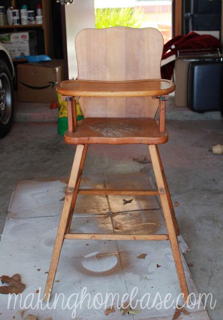 vintage wood high chair with annie sloan chalk paint, chalk paint, painted  furniture, - Vintage Wood High Chair With Annie Sloan Chalk Paint Hometalk