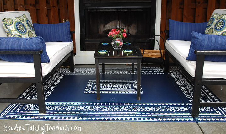 """Now I can just spray off my """"outdoor"""" rug! LOVE!"""