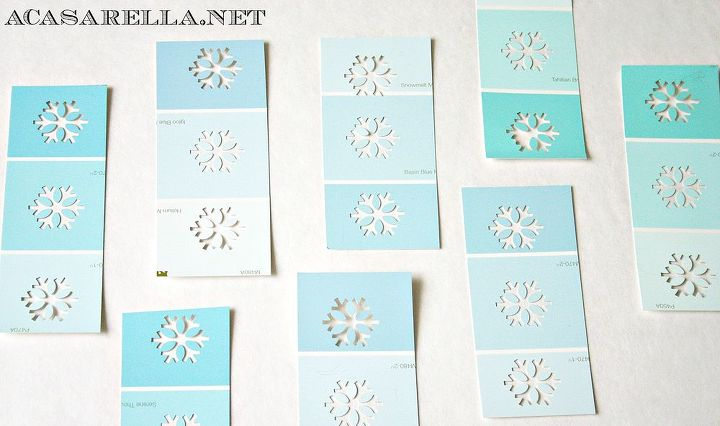 diy paint chip gift tags, crafts, repurposing upcycling