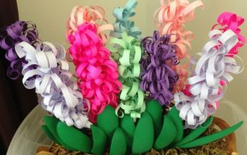mother s day curly paper hyacinths, crafts