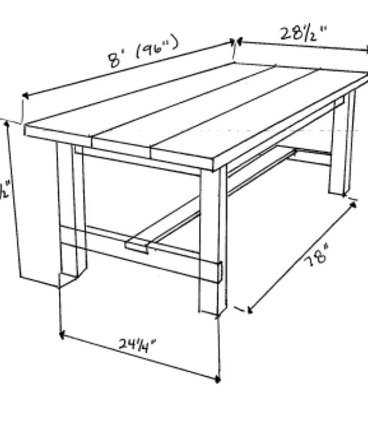 Diy Farmhouse Table Bench Hometalk