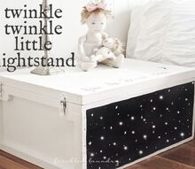 twinkle twinkle little nightstand makeover, painted furniture, Done