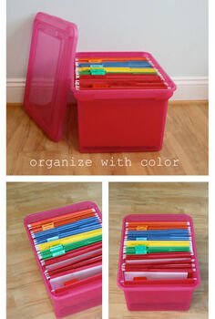 8 ways to organize with color, organizing