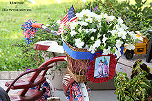 are you decorating your bike for the fourth of july, christmas decorations, flowers, gardening, patriotic decor ideas, repurposing upcycling, seasonal holiday d cor, You gotta have a basket full of flowers