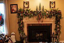 christmas tree mantel, christmas decorations, seasonal holiday decor