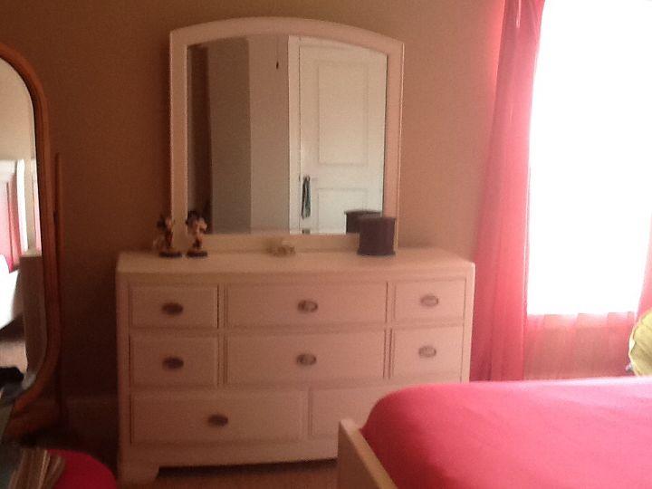q girls white bedroom furniture, bedroom ideas, home decor, painted furniture, White dresser