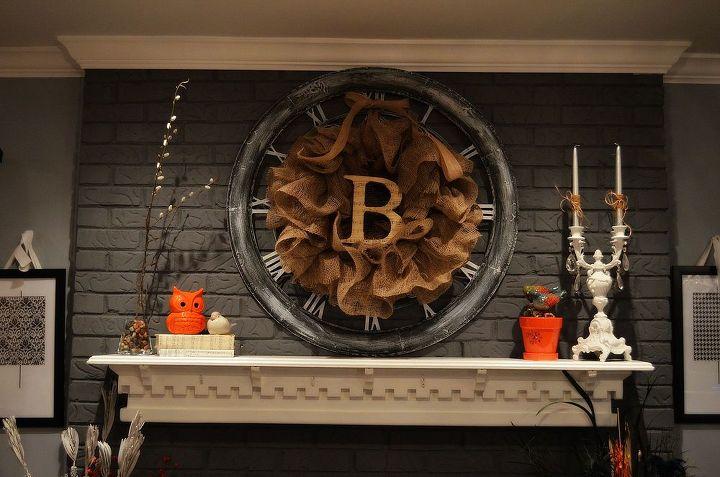 Burlap Wreath Done