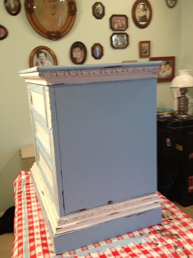 old night stand of my parents transformed into a chippy lil delight, painted furniture