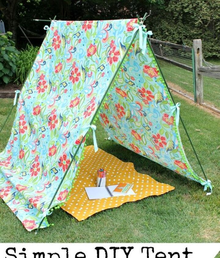 simple diy tent, crafts, outdoor living
