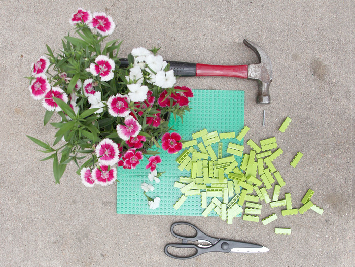 for the kid in all of us diy lego planter, flowers, gardening, repurposing upcycling, succulents