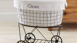 i need creative ideas on how to use this set of wheels separate, repurposing upcycling, Inspired by Pottery Barns rolling laundry basket