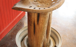 rustic tractor seat bar stools, diy, outdoor furniture, painted furniture, repurposing upcycling, rustic furniture