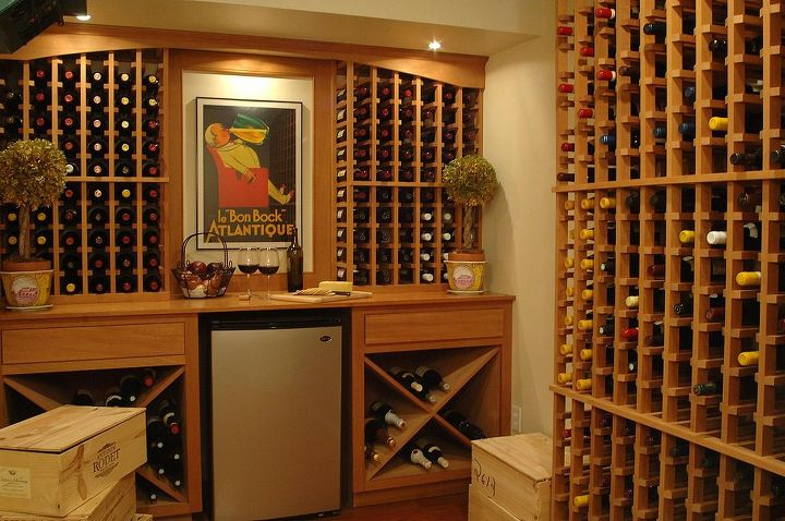 Part of a basement remodel which included a guest room, sitting room and wine cellar built by Titus Built, LLC