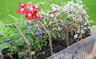 spring flower inspiration, flowers, gardening, repurposing upcycling, Old Chicken Feeder