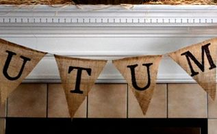 diy burlap pennant banner, crafts, home decor, seasonal holiday decor, DIY Burlap Pennant Banner