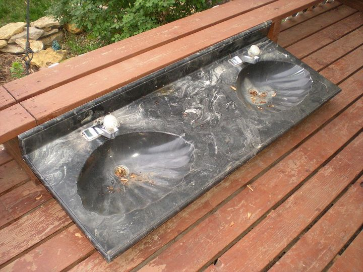 how to recycle a double sink, repurposing upcycling