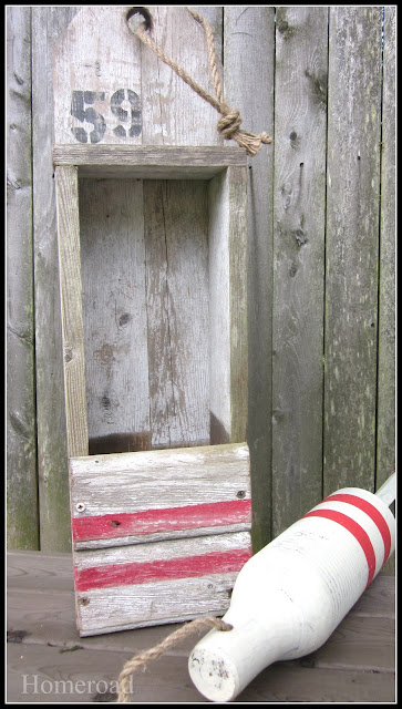 nautical buoy crate, repurposing upcycling, woodworking projects, My crate and my inspiration buoy