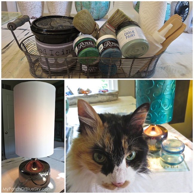 Add A Hand Painted Raised Pattern To A Lamp Shade Using