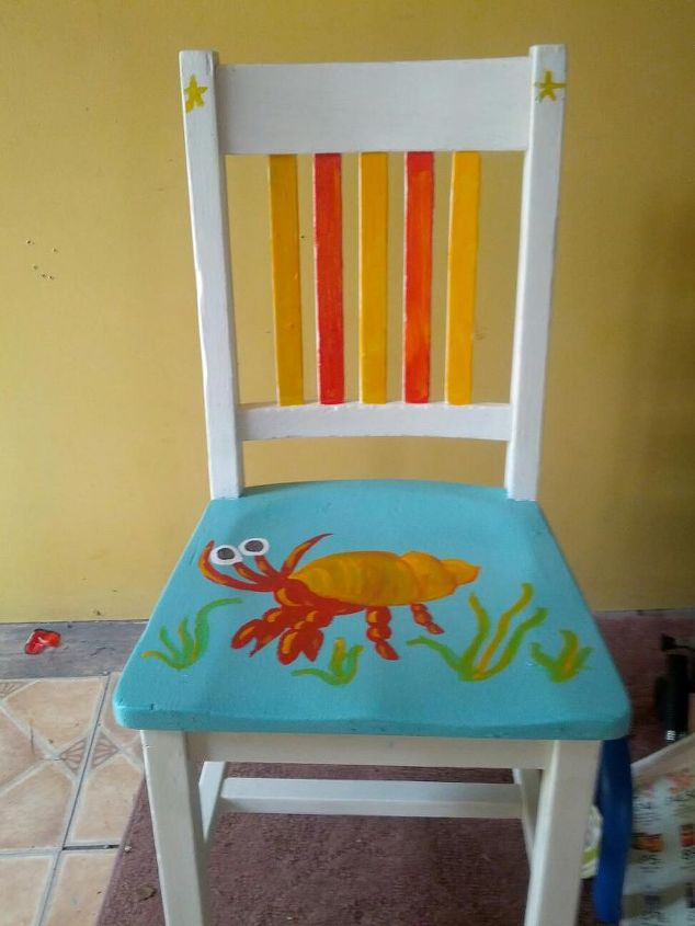 crabby shack chair, painted furniture