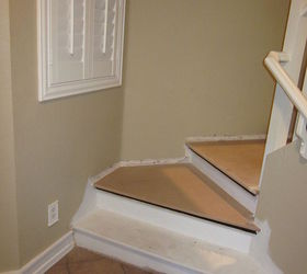 Replace The Landing With New MDF To Hide The Particle Board Landing That  Was Installed By