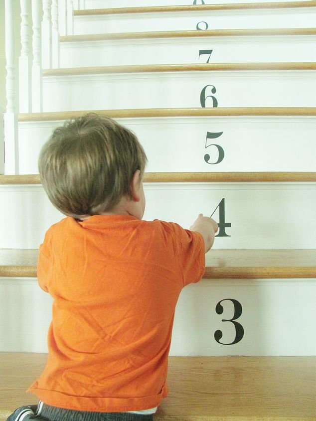 numbered stairs, home decor, stairs