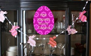 easter printable pbk inspired bunny garland, crafts, easter decorations, seasonal holiday decor