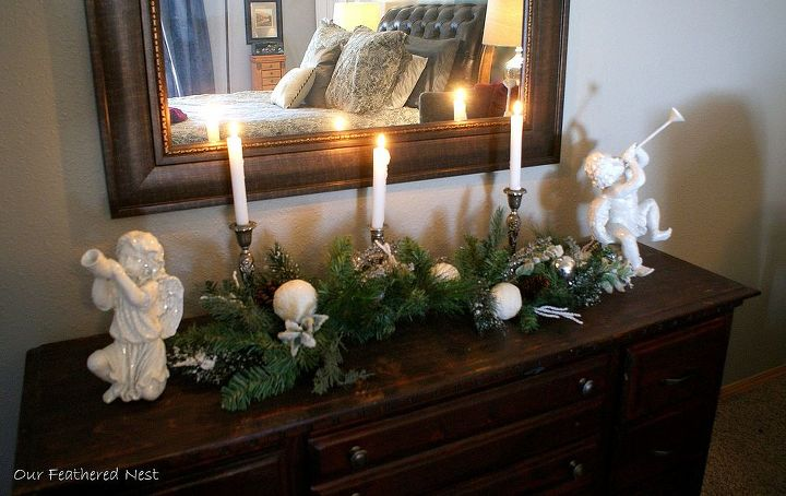 christmas touches in the master bedroom, bedroom ideas, christmas decorations, seasonal holiday decor