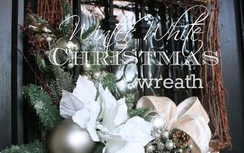 winter white christmas wreaths diy, christmas decorations, crafts, seasonal holiday decor, wreaths