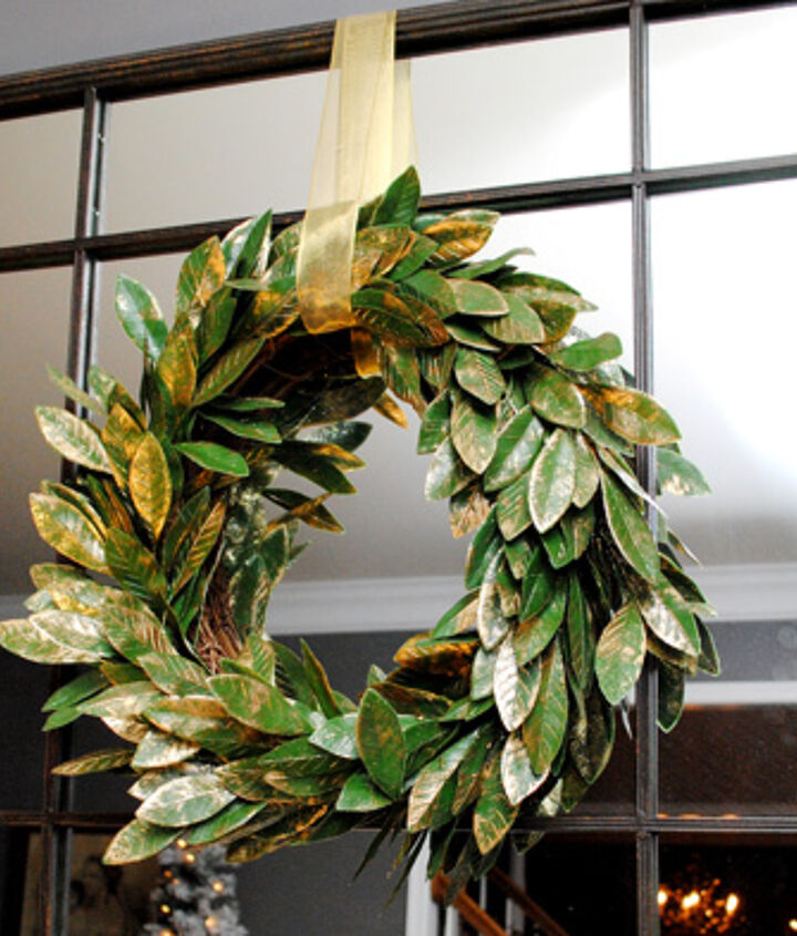 I have two of these wreaths on the mirrors that are on either side of my sofa.