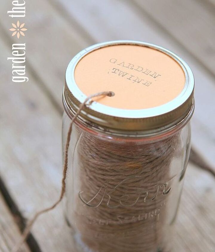 This handy jar is perfect for keeping twine from tangling!