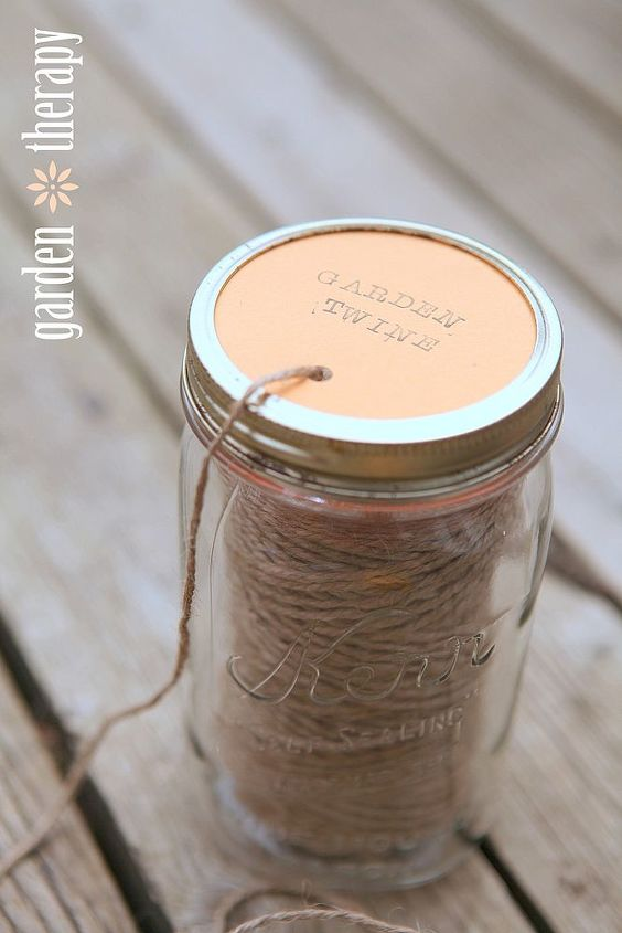 diy garden twine dispenser, crafts, gardening, wreaths, This handy jar is perfect for keeping twine from tangling