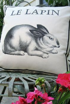 my ballard inspired french bunny pillow including free graphic, crafts, seasonal holiday decor, So versatile it s not just for spring