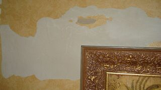 any ideas for painting some type of finish on walls that have flaws, paint colors, painting, wall decor, Heres one area It is like this throughout room