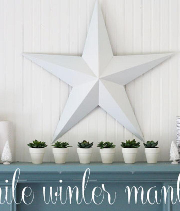 winter white mantle, home decor