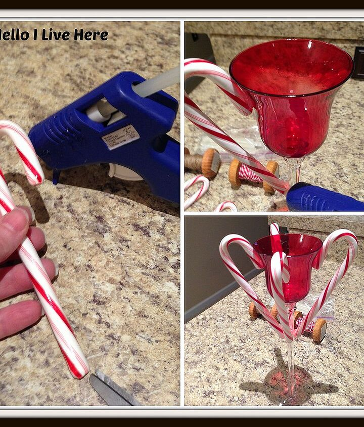 Gluing on the Candy Canes